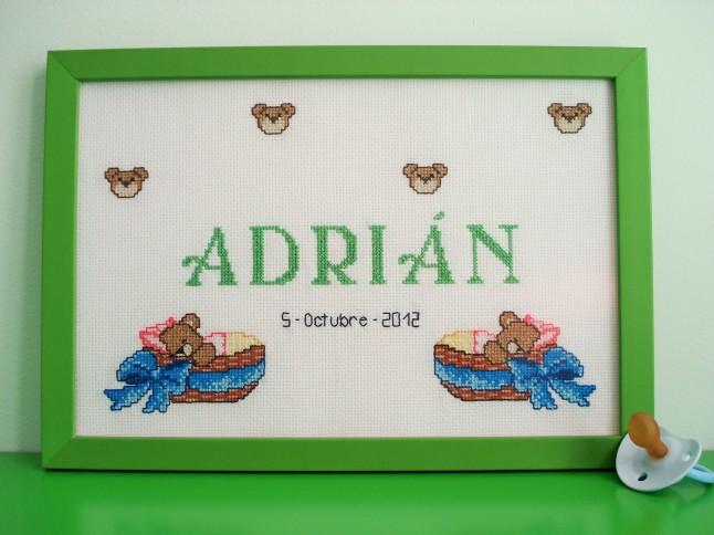 Cuadro de 20 x 30 cm, verde claro. Tiempo de elaboración: 16 h 48 min.