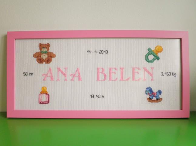 Cuadro de 20 x 37 cm, rosa claro. Precio: 50 €.