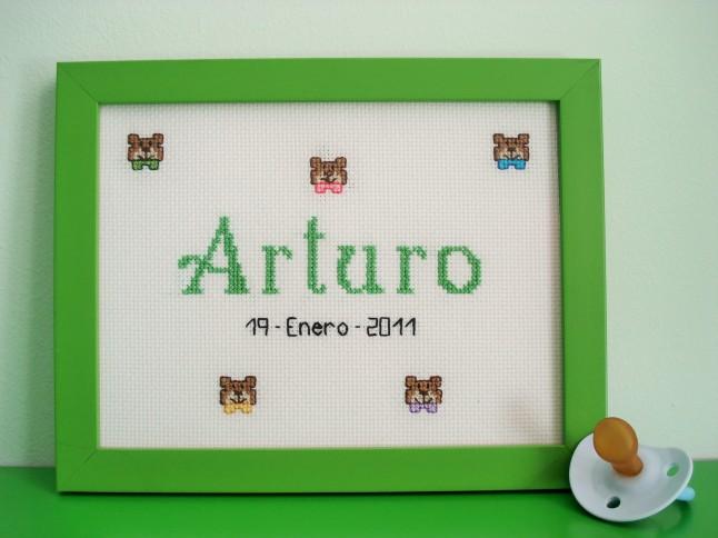 Cuadro de 15 x 20 cm, verde claro. Precio: 30 €.