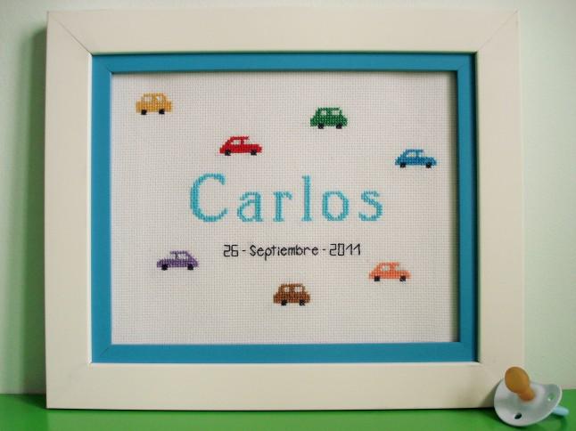Cuadro de 20 x 25 cm, azul claro. Precio: 48 €. (doble marco).