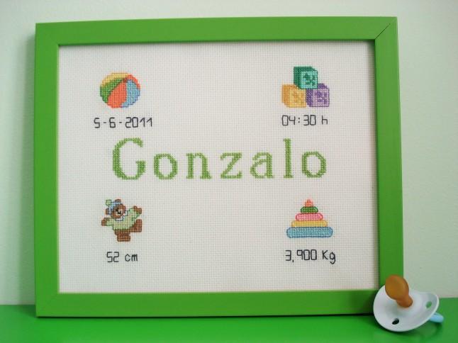 Cuadro de 20 x 25 cm, verde claro. Precio: 40 €.
