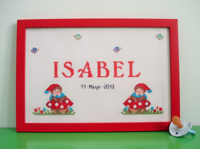 Cuadro de 20 x 30 cm, rojo. Precio: 50 €.