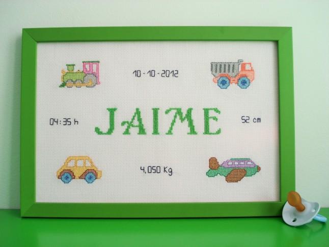 Cuadro de 20 x 30 cm, verde. Precio: 50 €.