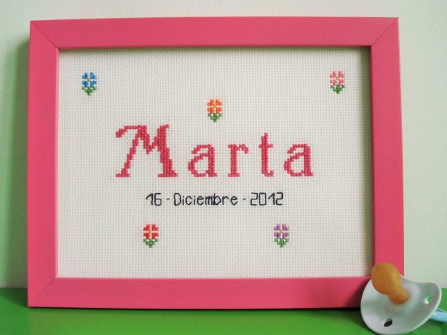 Cuadro de 15 x 20 cm, rosa oscuro. Precio: 30 €.