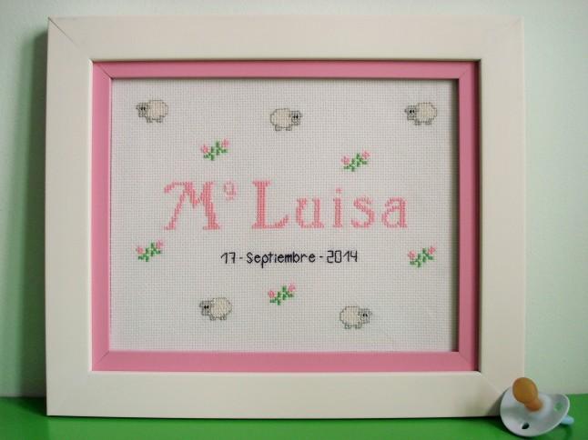 Cuadro de 20 x 25 cm, rosa claro. Precio: 48 €. (doble marco).