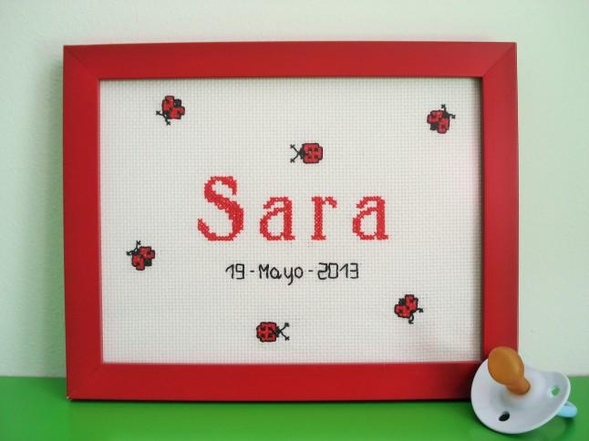 Cuadro de 15 x 20 cm, rojo. Precio: 30 €.