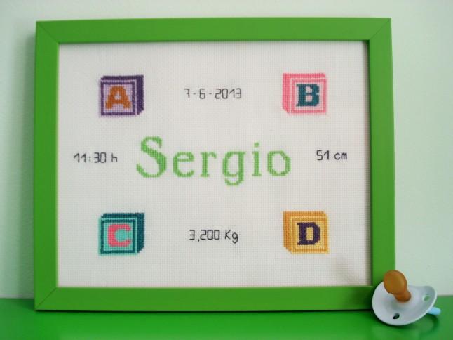 Cuadro de 20 x 25 cm, verde claro . Precio: 40 €.