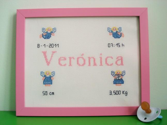 Cuadro de 20 x 25 cm, rosa claro. Precio: 40 €.